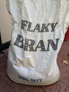 Bag of flaky bran