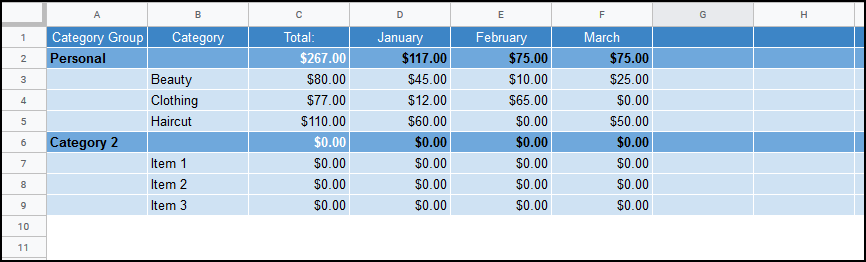 Download YNAB Category Balance into Google Sheets (Guide) ·