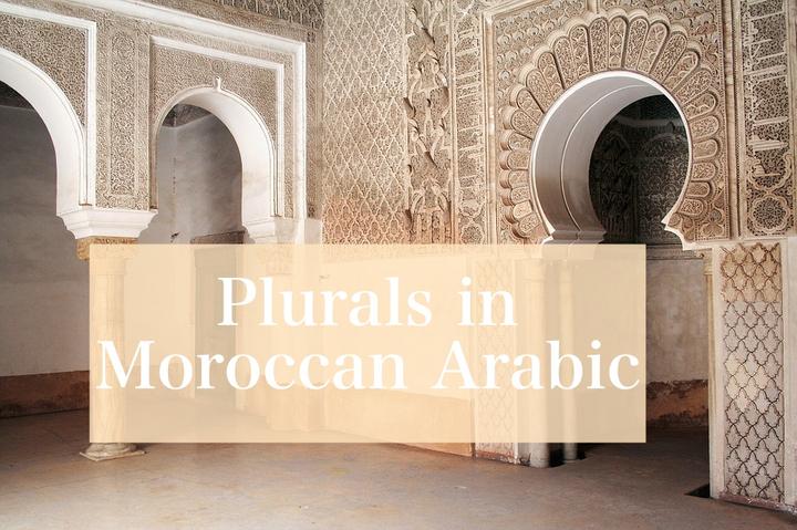 Plurals in Moroccan Arabic