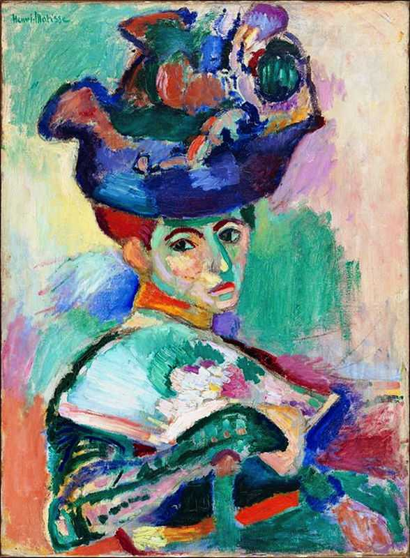 'Woman with a Hat' by Matisse in 1905, San Francisco Museum of Modern Art