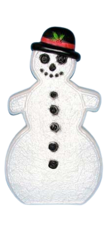 Snowman With Black Hat photo