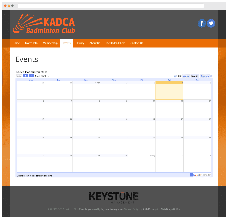 Kadca Badminton Club Events Page