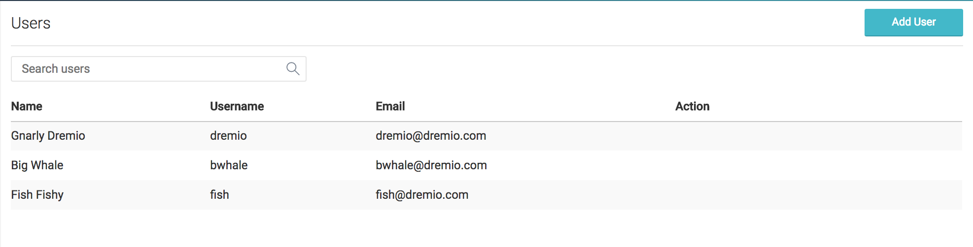 Adding Users to Dremio