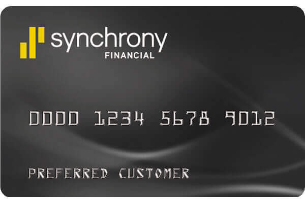 Synchrony Financial logo for E S C mattress center 0% interest financing options