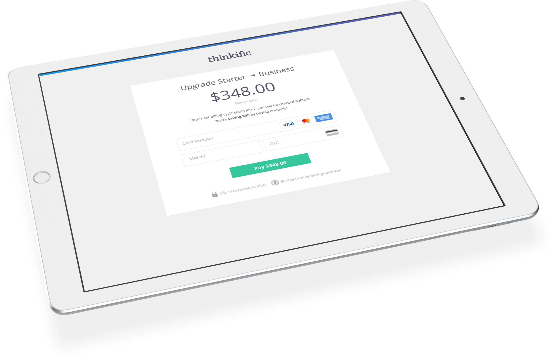 Payment flow screen