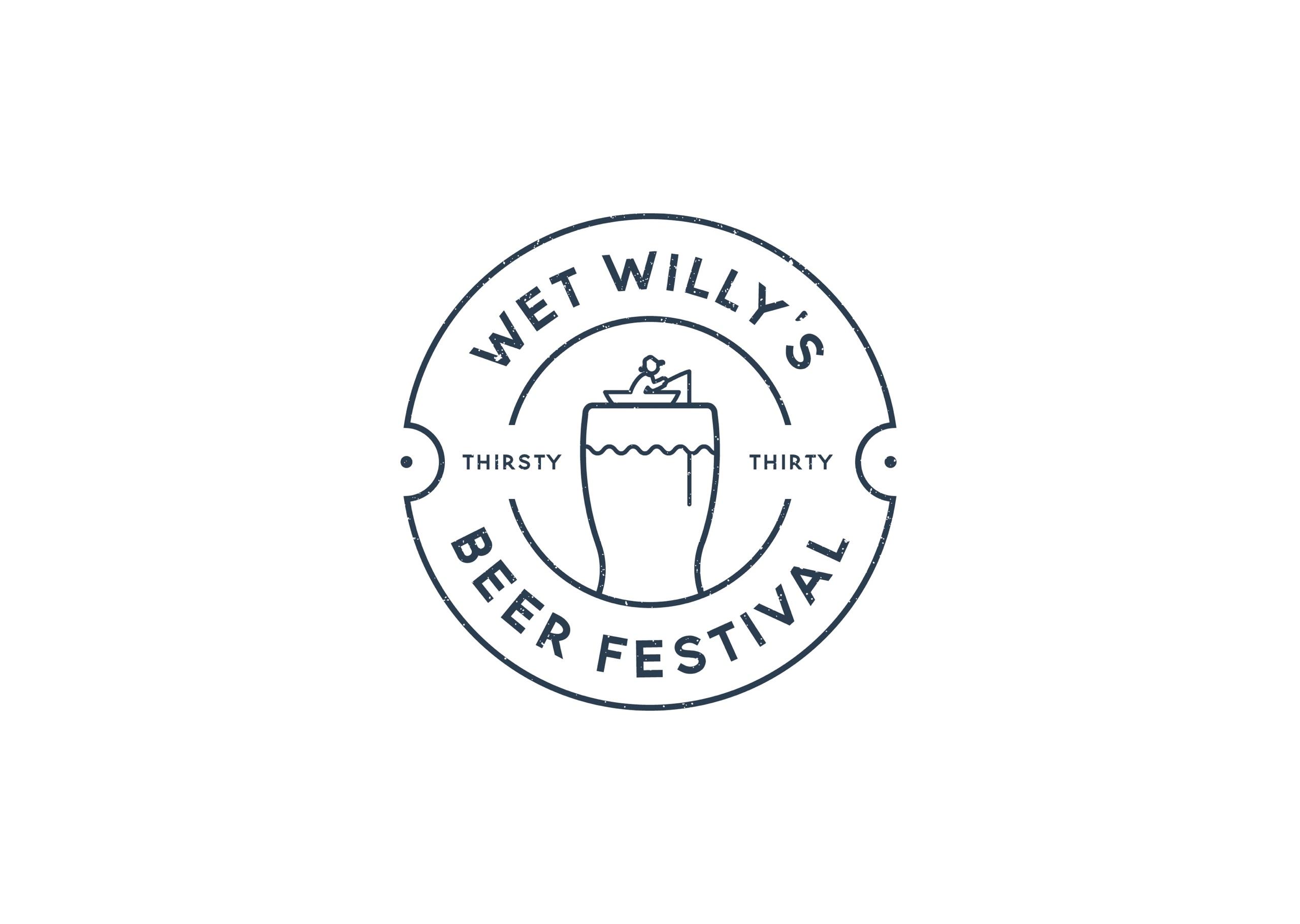 Logo design, branding and identity for Wet Willy's Beer Festival
