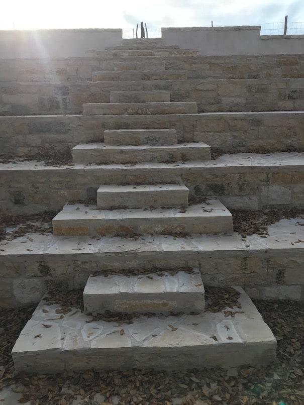 Up the beautiful stone steps at chapel falls