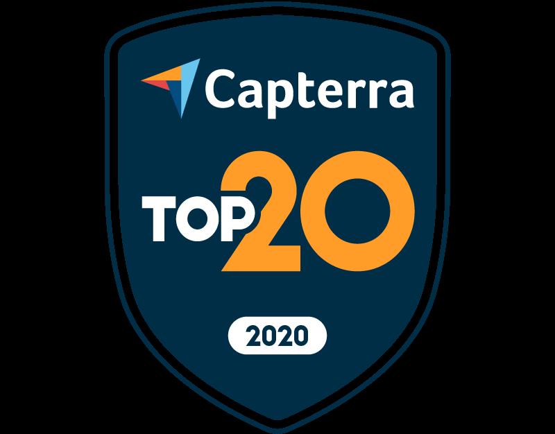 capterra top 20 badge