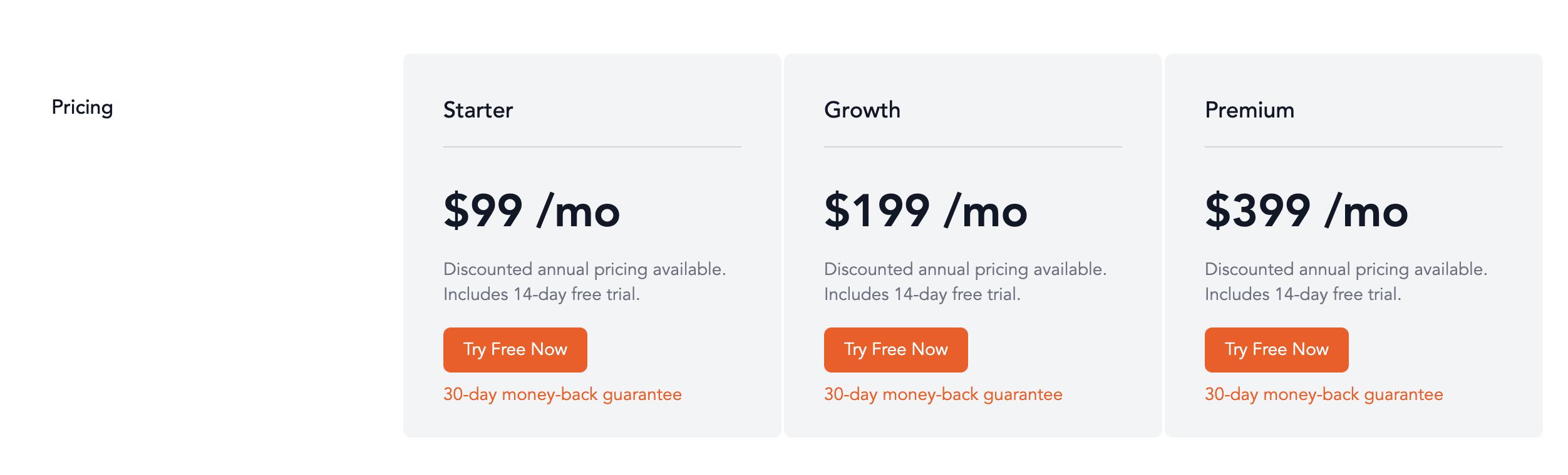 Nickelled pricing plans