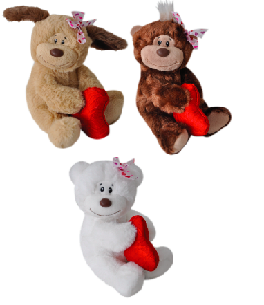 "The Petting Zoo: 6"" Valentine Love & Kiss Couple Assorted"