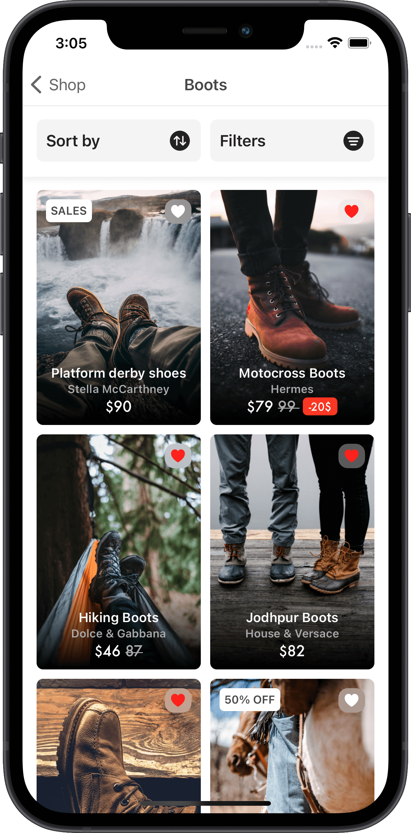 e-commerce, products, boots