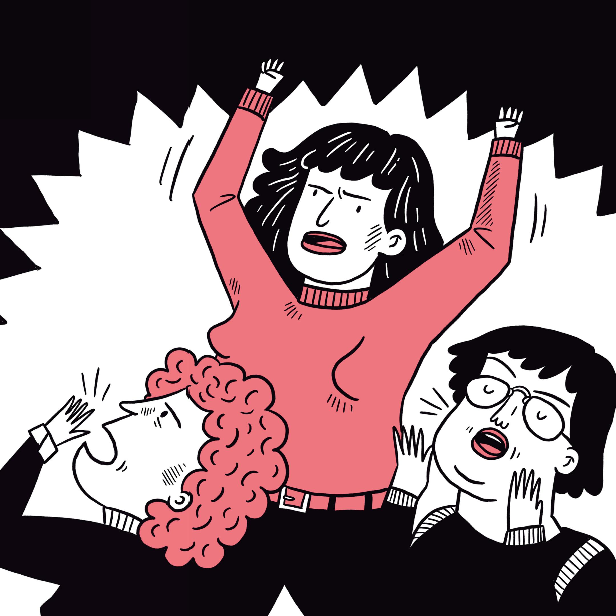 Иллюстрация изкомикса «Свобода, равенство, сестринство. 150лет борьбы женщин засвои права»