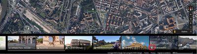 Carosello delle immagini di Google Maps con evidenziata l'Icona Tour 3D