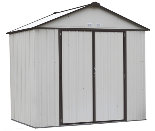 8x7 EZEE Shed in Cream with Charcoal Trim