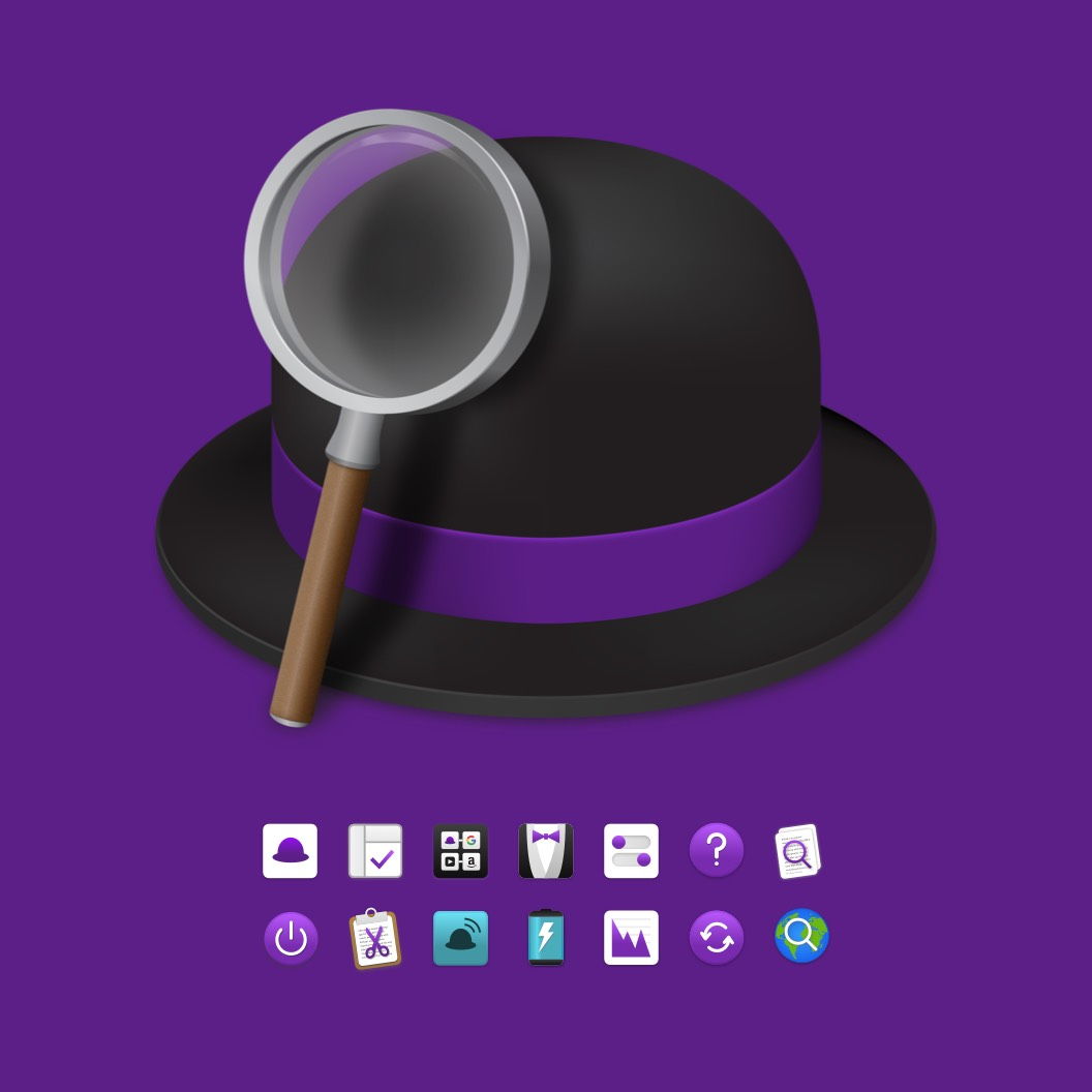 Alfred App main logo design and icons