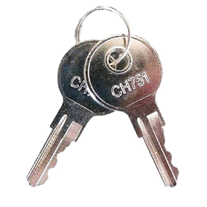 Two Replacement Keys For Pyramid Time Clocks