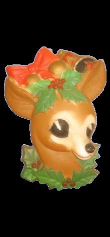 Reindeer Head Plaque photo