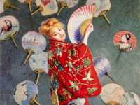 The second impressionist exhibition was held two years later in 1876. Whilst the reviews were again critical, he managed to sell Japanese Fans for 2,000 francs.