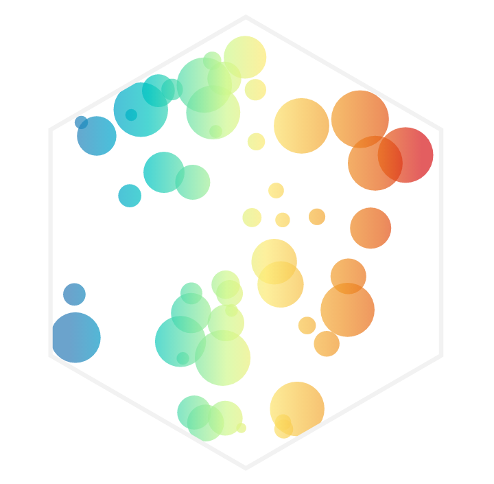 The hexagon that was on the intro slide for the smooth gradient legend section