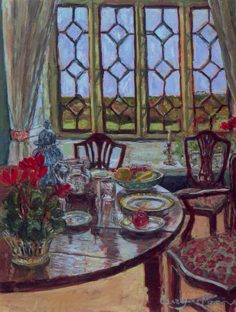 Dining Room Breamore oil painting