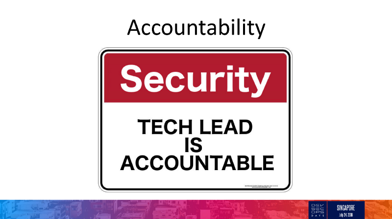 Tech Lead is Accountable