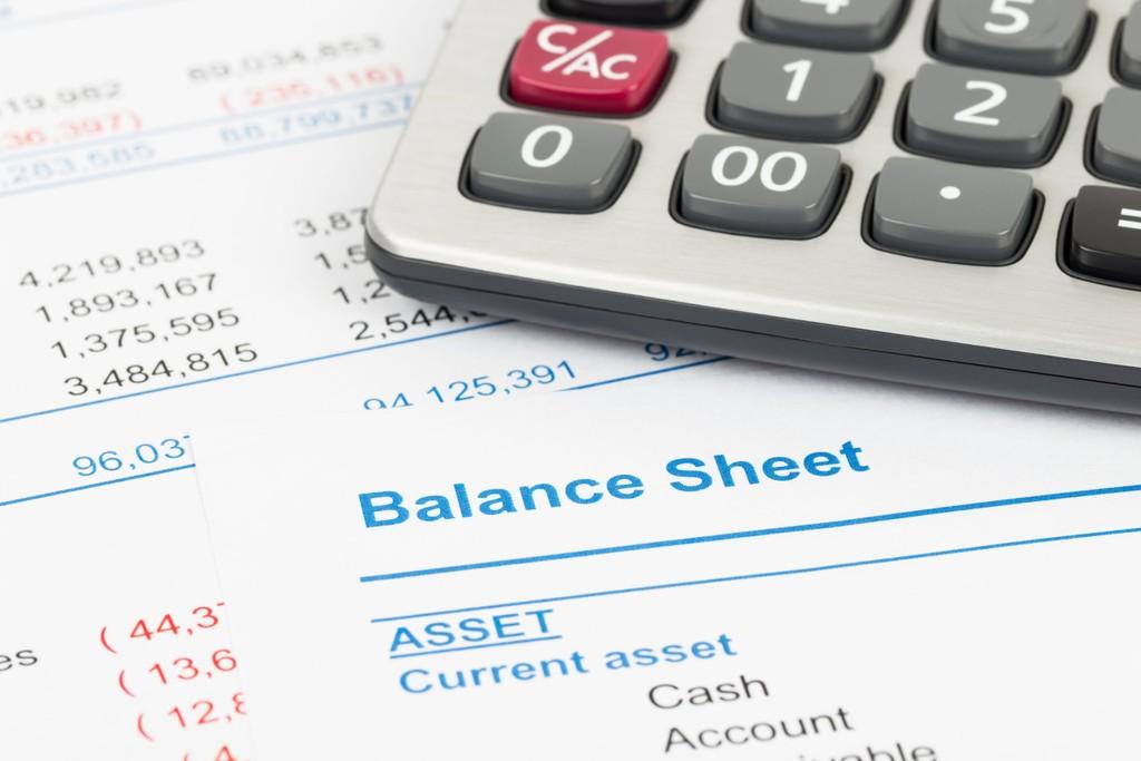 Balance sheet for cash flow management