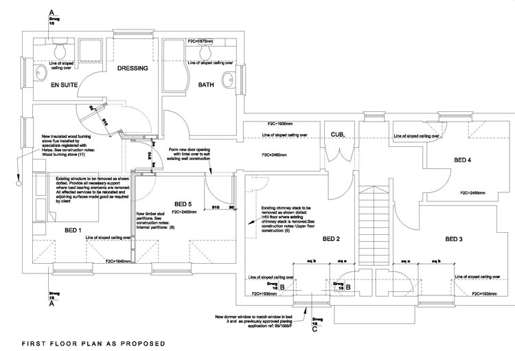 proposed plan for new first floor design