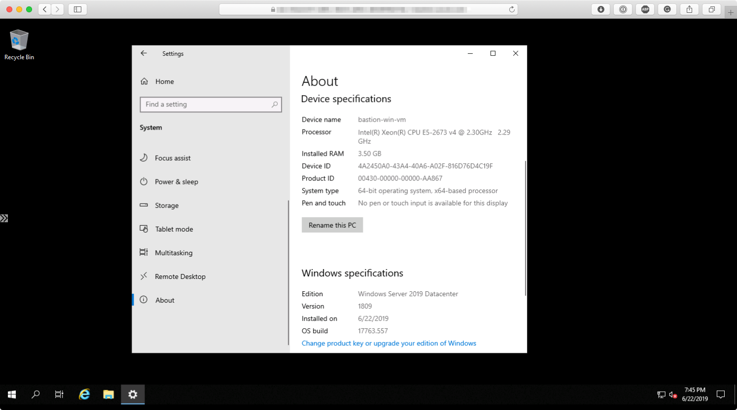 Connecting to the Windows VM