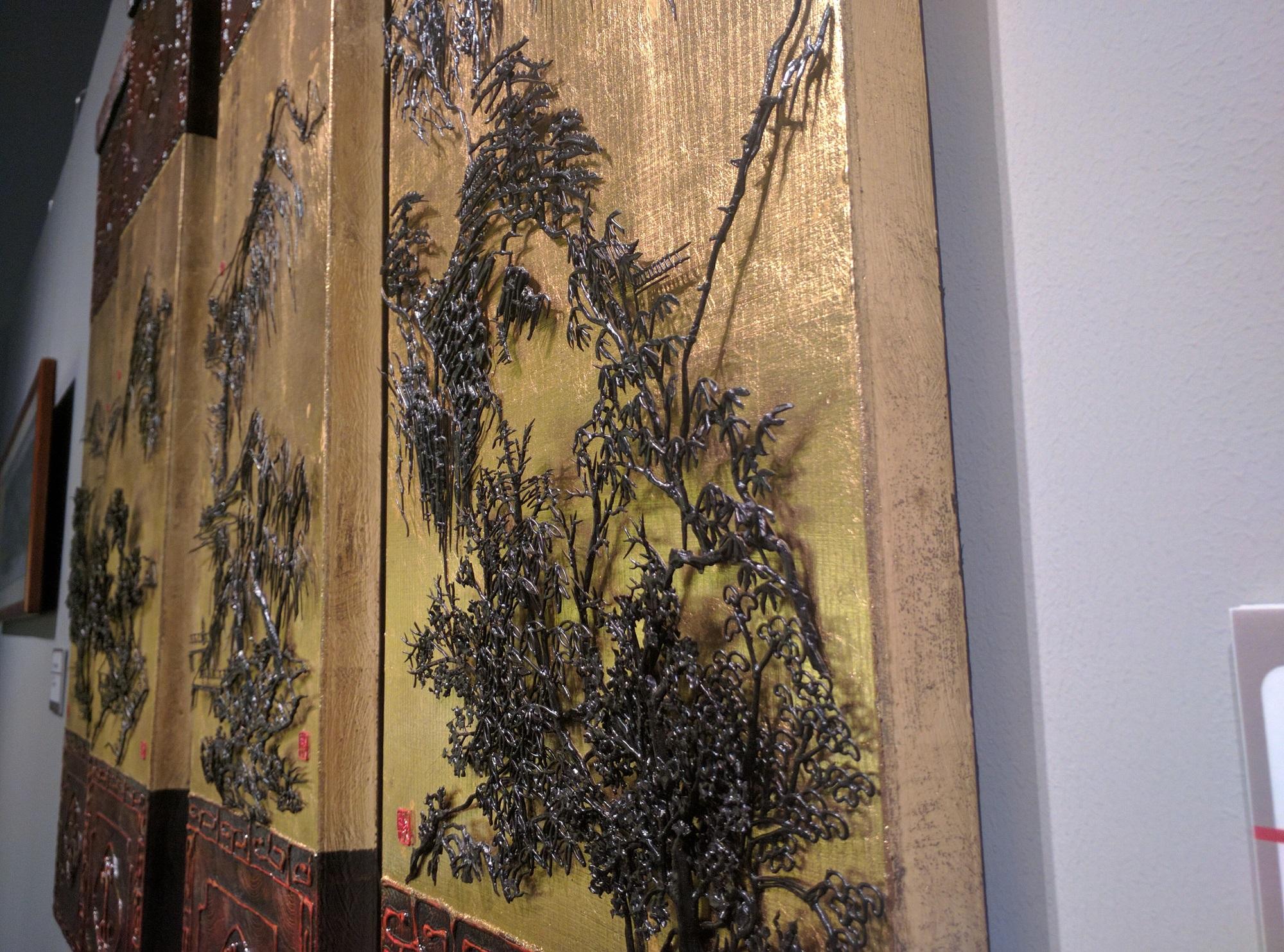Moderne Kunst im Nationalmuseum in Beijing.