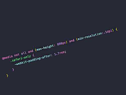 Change CSS rules only in Safari