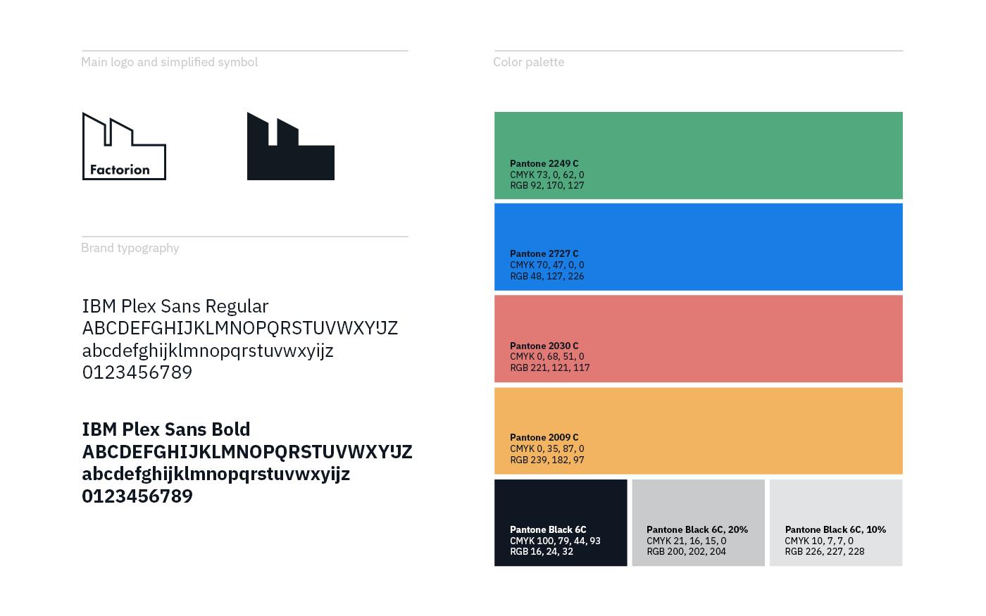 Factorion brand elements
