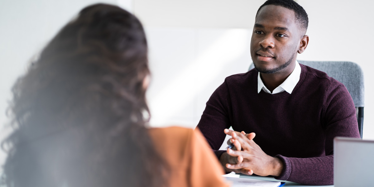 A hiring manager interviewing a candidate for a data analyst role
