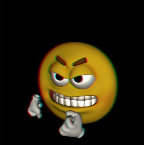 emoji bravinho com efeito 3D