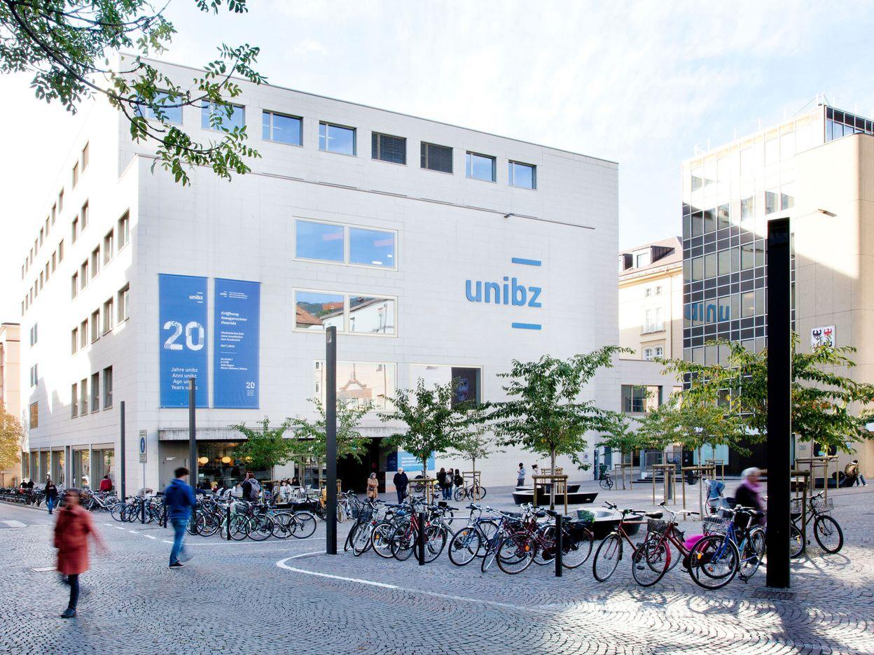 Facade of the Free University of Bozen-Bolzano campus
