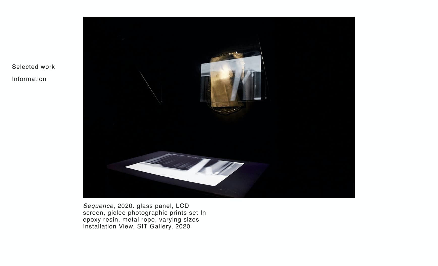 Orson Heidrich artist website documentation screenshot