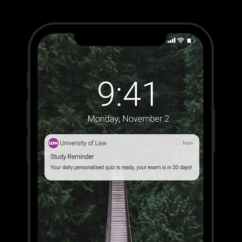 ULaw push notification on iPhone