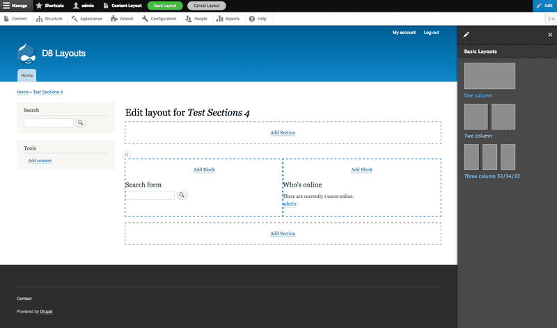 Drupal 8 Layout Builder