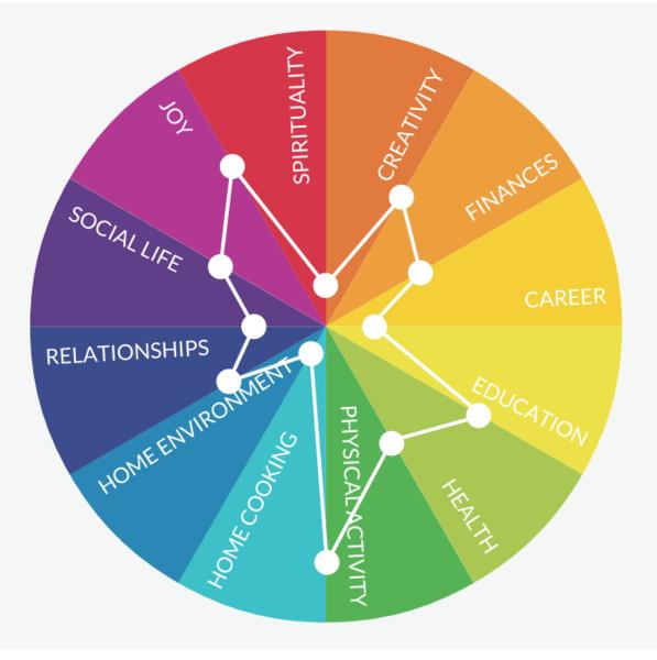 vòng tròn cuộc sống đã vẽ