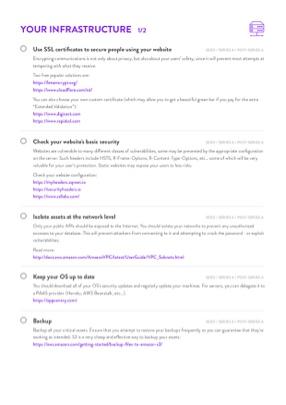SaaS CTO Security Checklist page 3