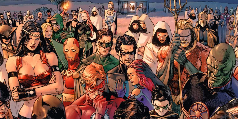 """Heróis reunidos após tragédia em """"Heróis em Crise"""" de Tom King para a DC Comics"""