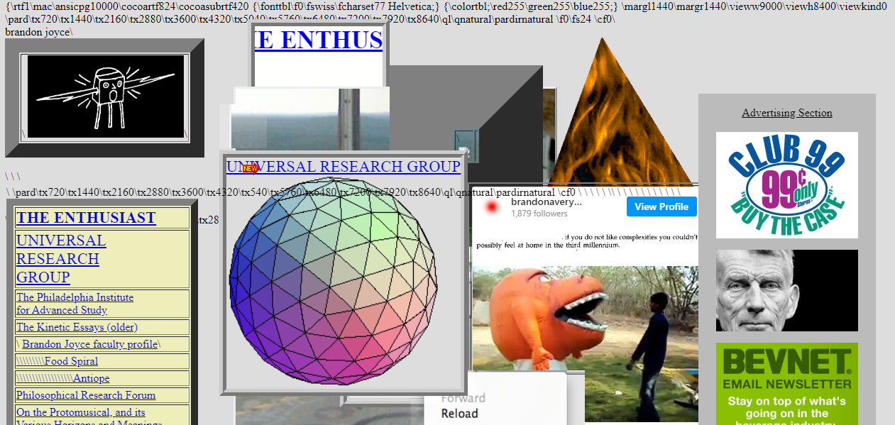 A cluttered website.
