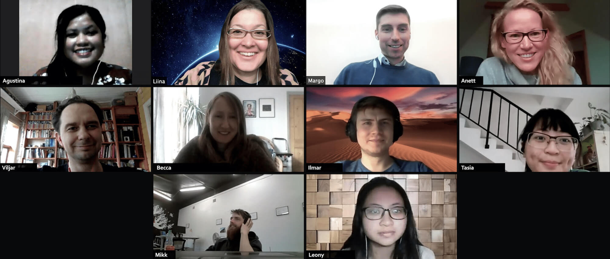 Screenshot of Citizen OS team members in a Zoom call