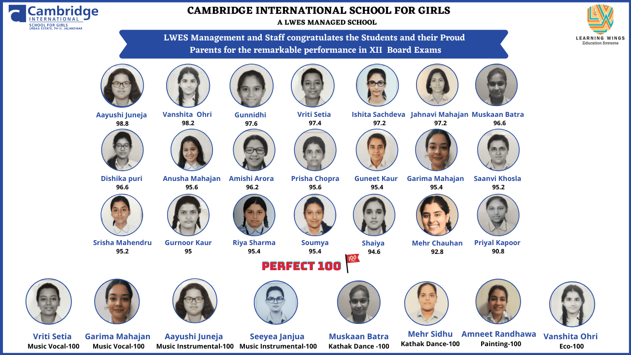 Cambridge International School for Girls is a girls-only day school for 6 to 18 year olds that provides CBSE curriculum.