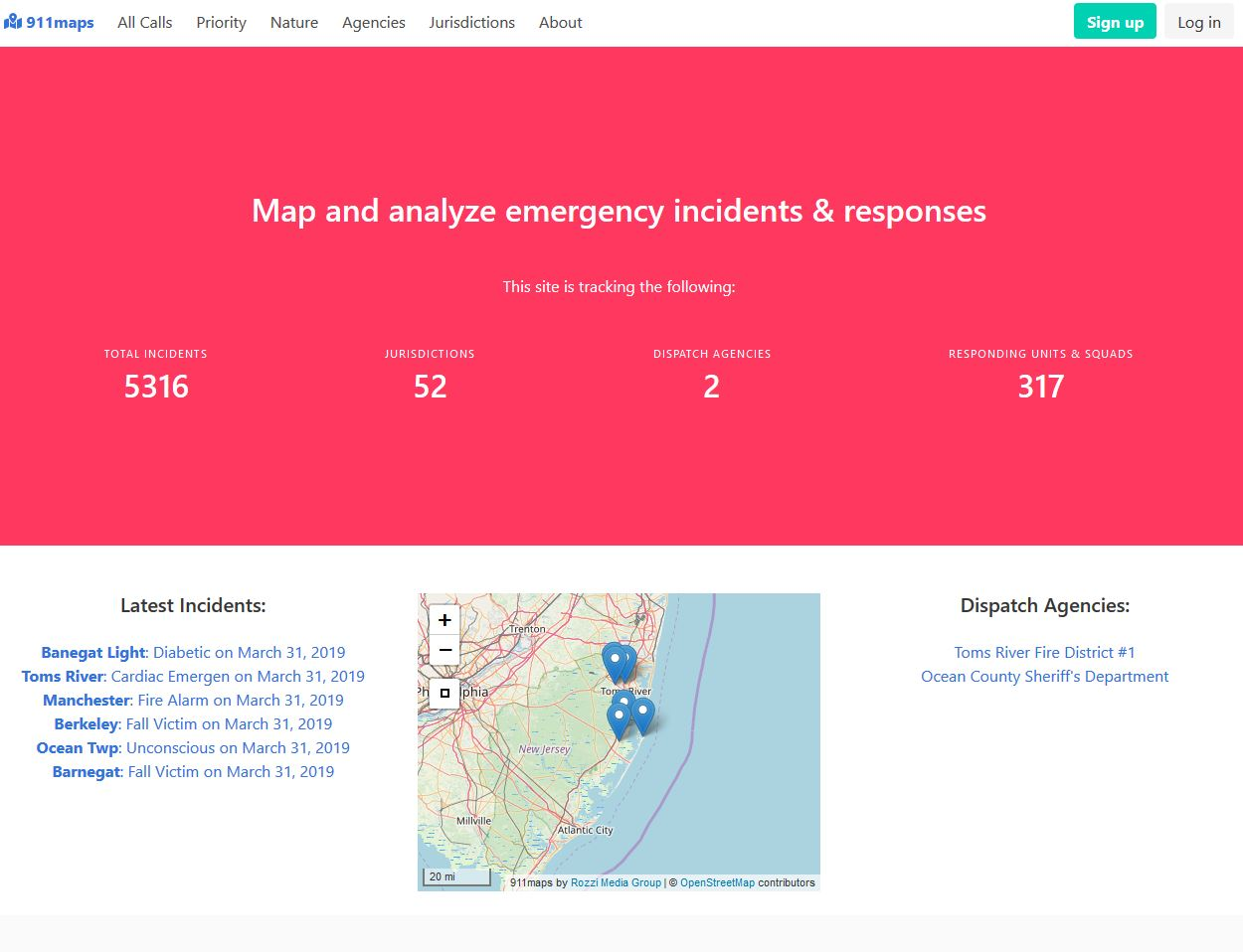 The 911maps website