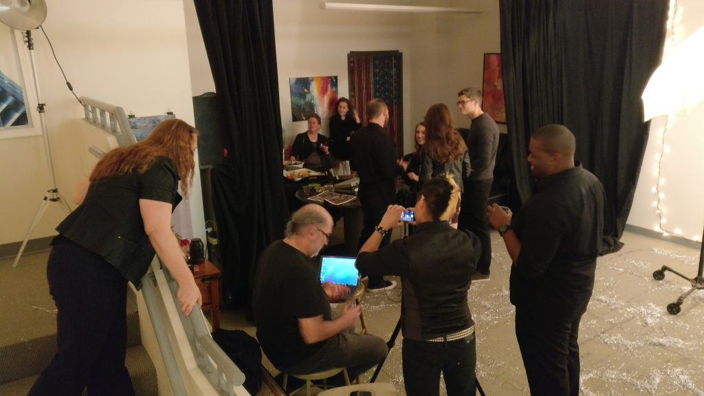 Picture of art studio New Years Eve party