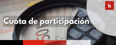 ¿Qué hay que hacer para calcular la cuota de participación?