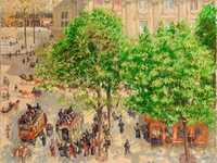 Pissarro's Place de Theatre Francais