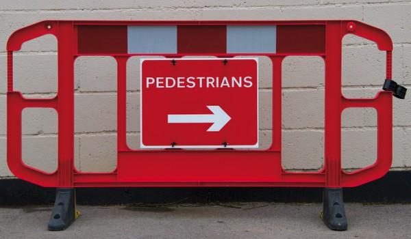 Pedestrian barrier site safety