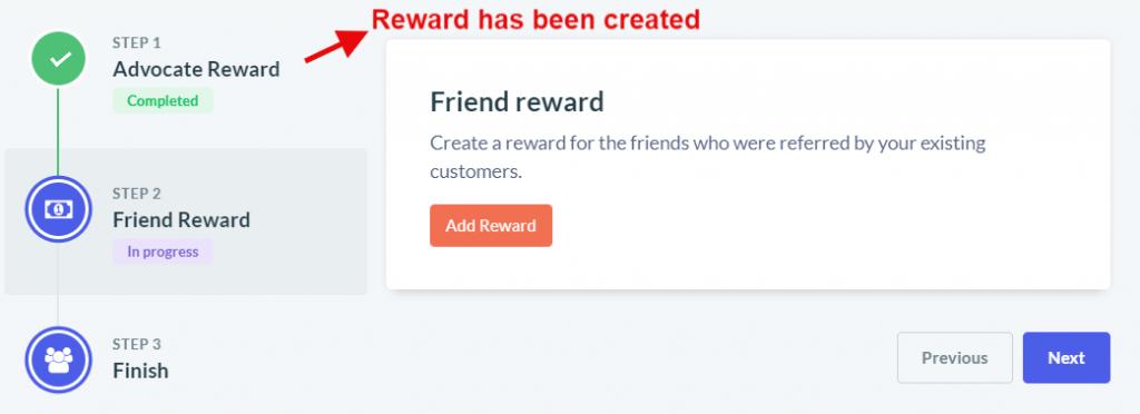 Advocate reward created