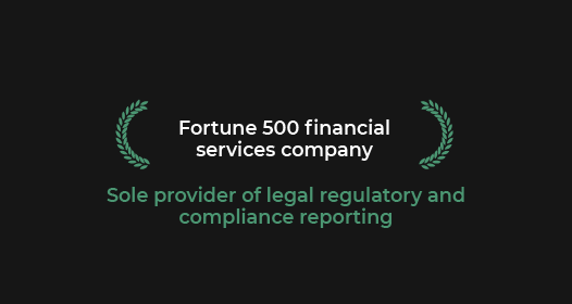 fortune 500 financial service company